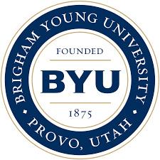 Brigham Young University logo.
